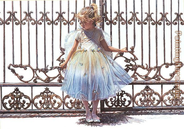 Steve Hanks Hold Onto the Gate Art Painting