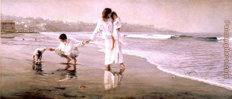 Steve Hanks Holding the Family Together Art Painting