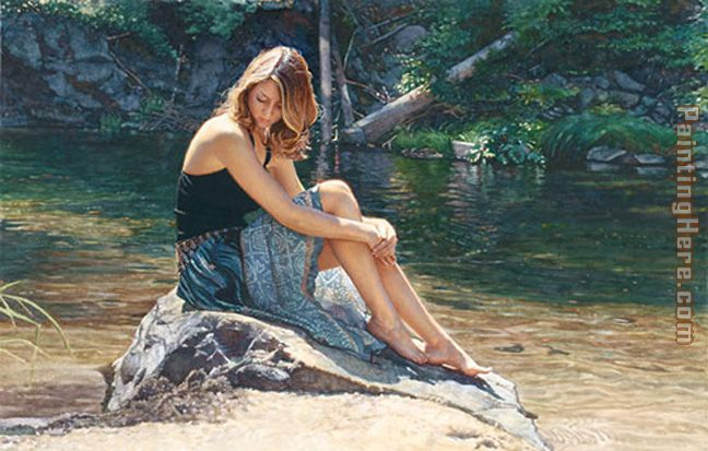 Listening to the River painting - Steve Hanks Listening to the River art painting