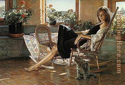 Quiet Rapport painting - Steve Hanks Quiet Rapport art painting
