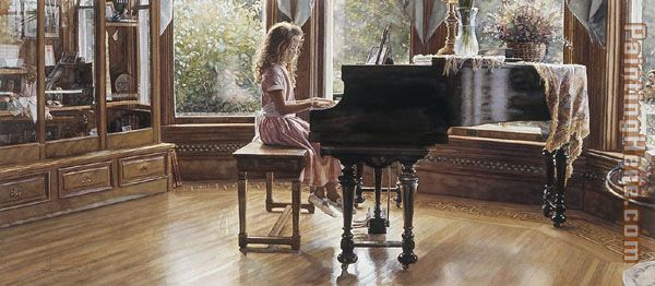 The Music Room painting - Steve Hanks The Music Room art painting