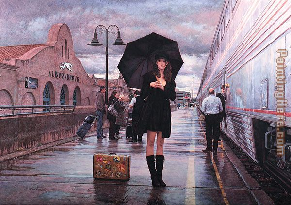 There are Places to Go painting - Steve Hanks There are Places to Go art painting