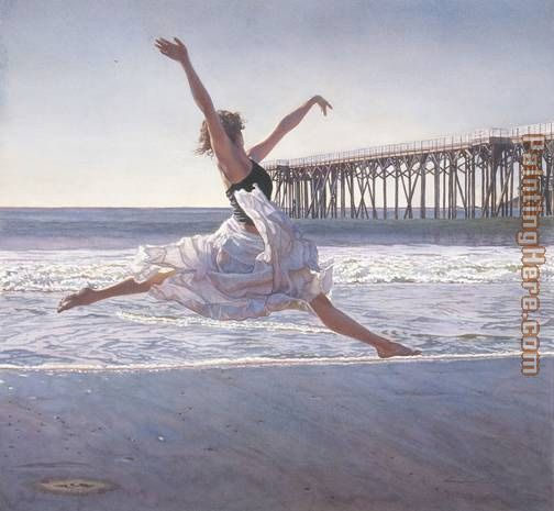 Steve Hanks To Dance Before the Sea And Sky Art Painting