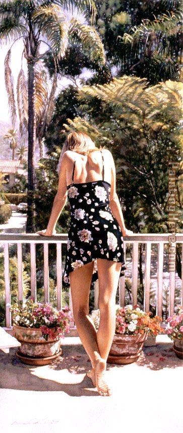 Steve Hanks View from the Balcony Art Painting