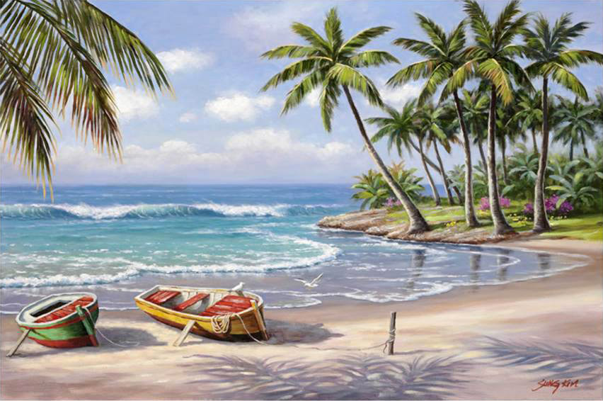 sung kim tropical bay painting anysize 50 off tropical bay