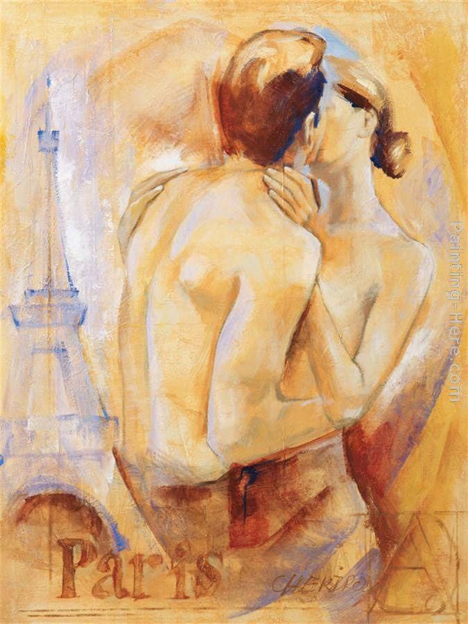 Talantbek Chekirov Kiss In Paris Painting Anysize 50 Off Kiss In