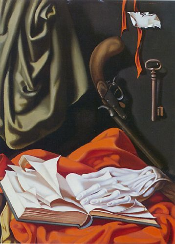 Key and Hand painting - Tamara de Lempicka Key and Hand art painting