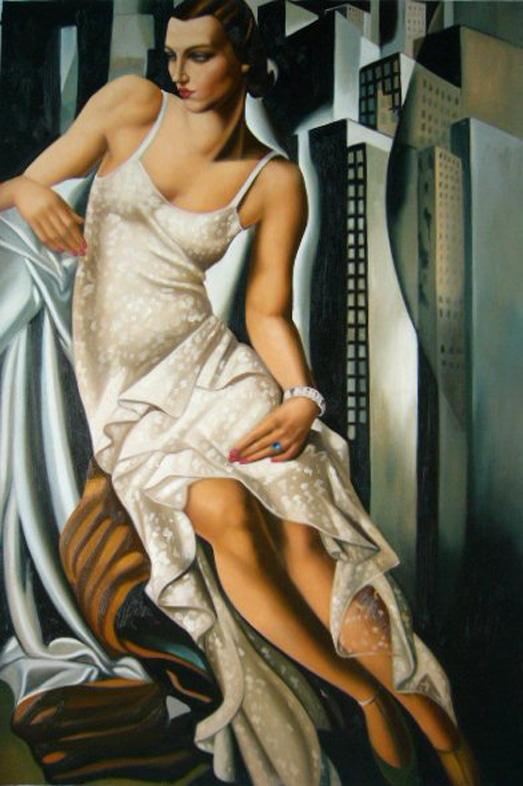 Tamara de Lempicka Portrait of Madame Allan Bott Art Painting