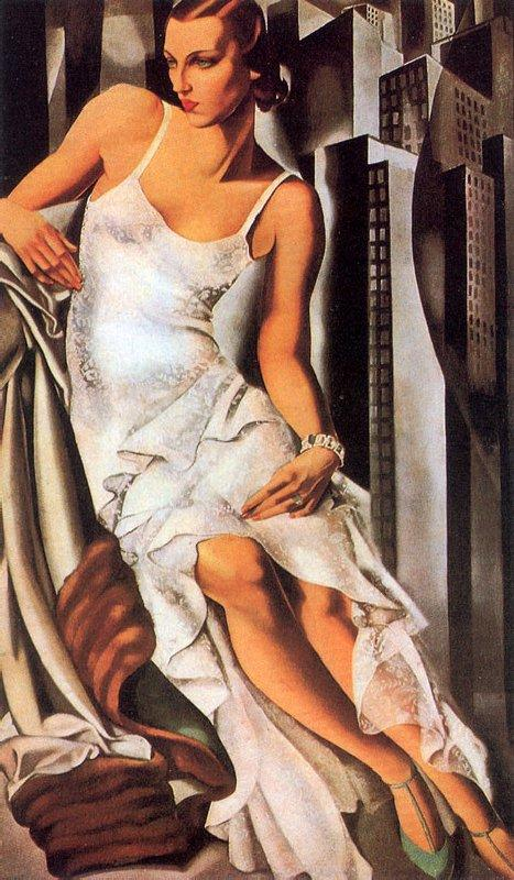 Sketch of Madame Allan Bott painting - Tamara de Lempicka Sketch of Madame Allan Bott art painting