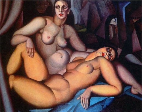 Tamara de Lempicka Two Friends Art Painting
