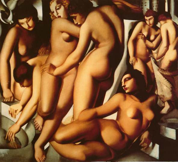 Tamara de Lempicka Women at the Bath Art Painting