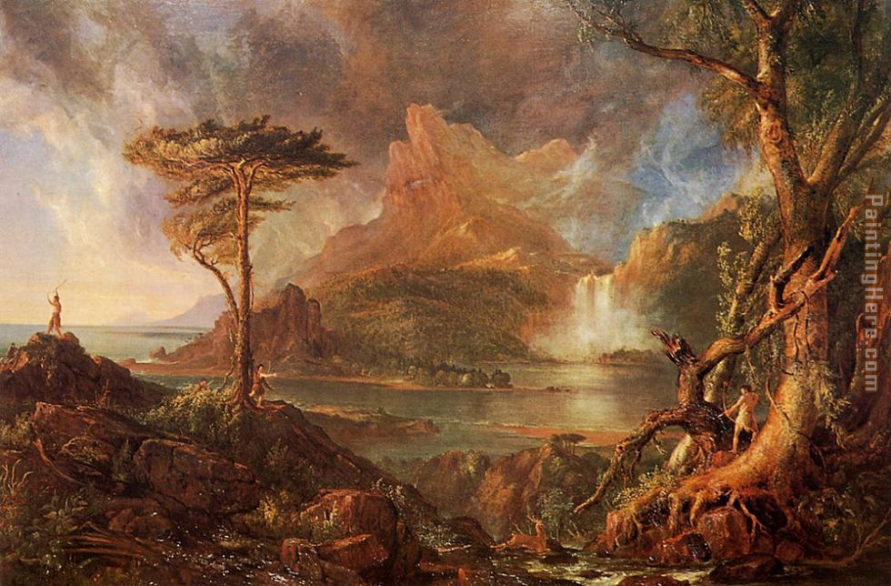 A Wild Scene painting - Thomas Cole A Wild Scene art painting