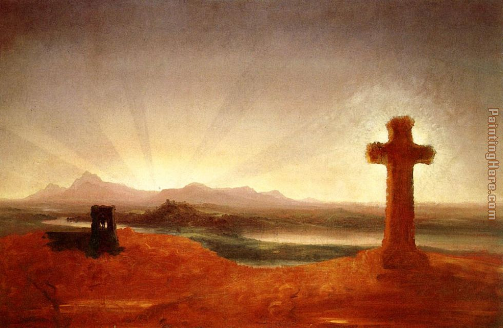 Cross at Sunset painting - Thomas Cole Cross at Sunset art painting