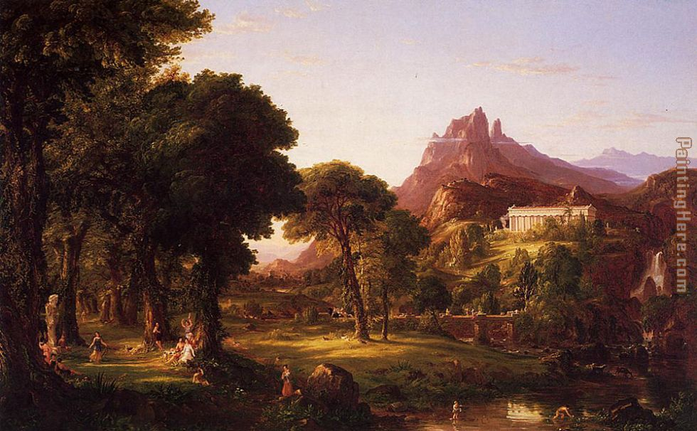Thomas Cole Dream of Arcadia Art Painting