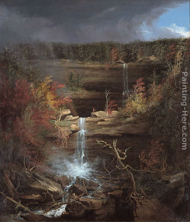 Falls of the Kaaterskill painting - Thomas Cole Falls of the Kaaterskill art painting