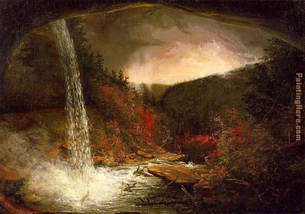 Kaaterskill Falls painting - Thomas Cole Kaaterskill Falls art painting