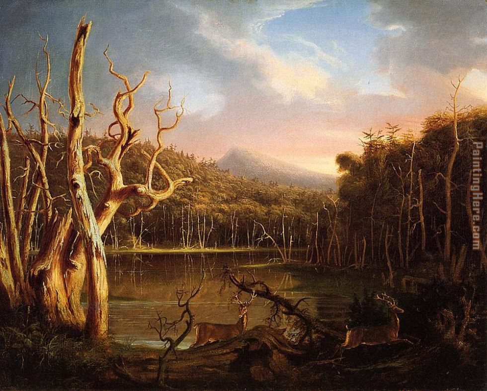Lake with Dead Trees (Catskill) painting - Thomas Cole Lake with Dead Trees (Catskill) art painting