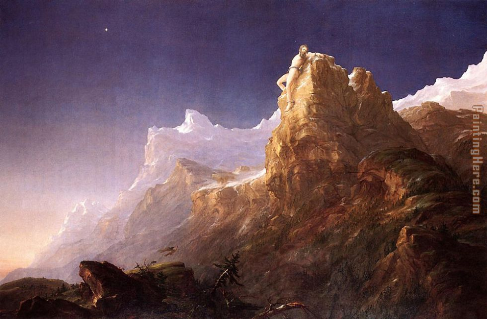 Prometheus Bound painting - Thomas Cole Prometheus Bound art painting