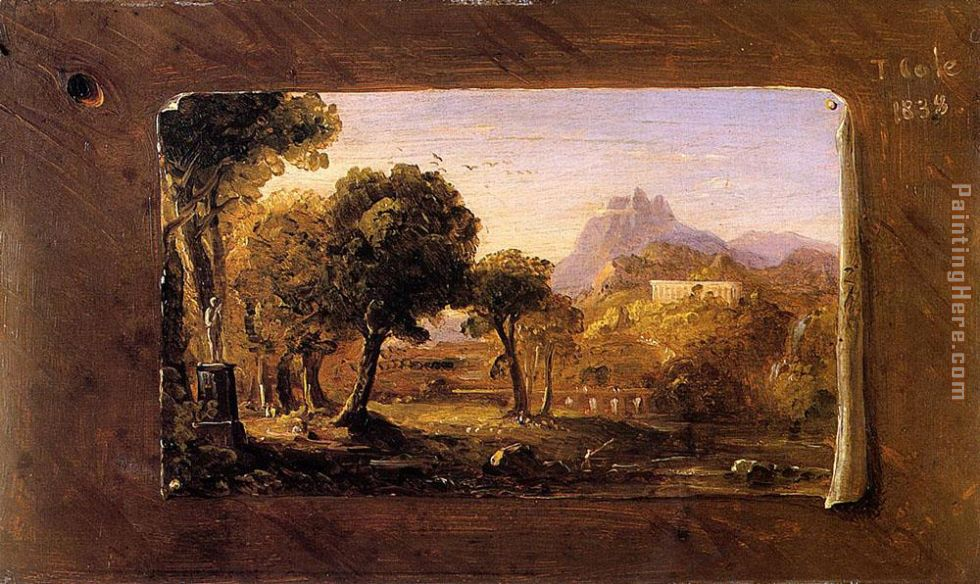 Study for Dream of Arcadia painting - Thomas Cole Study for Dream of Arcadia art painting
