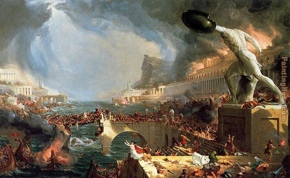 The Course of Empire Destruction painting - Thomas Cole The Course of Empire Destruction art painting