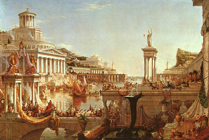 Thomas Cole The Course of Empire The Consummation Art Painting