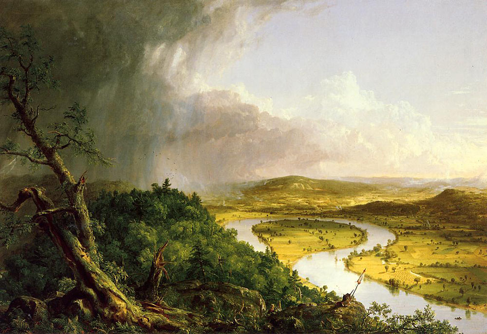 Thomas Cole The Oxbow Art Painting