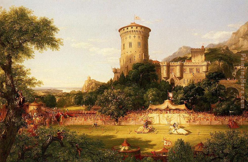 The Past painting - Thomas Cole The Past art painting