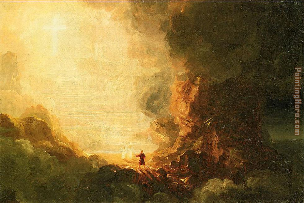 The Pilgrim of the Cross at the End of His Journey painting - Thomas Cole The Pilgrim of the Cross at the End of His Journey art painting