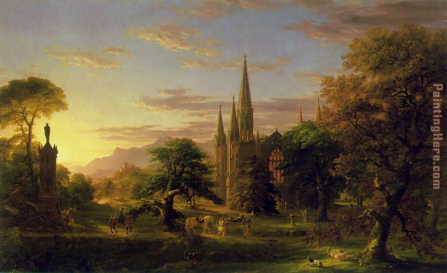 Thomas Cole The Return Art Painting