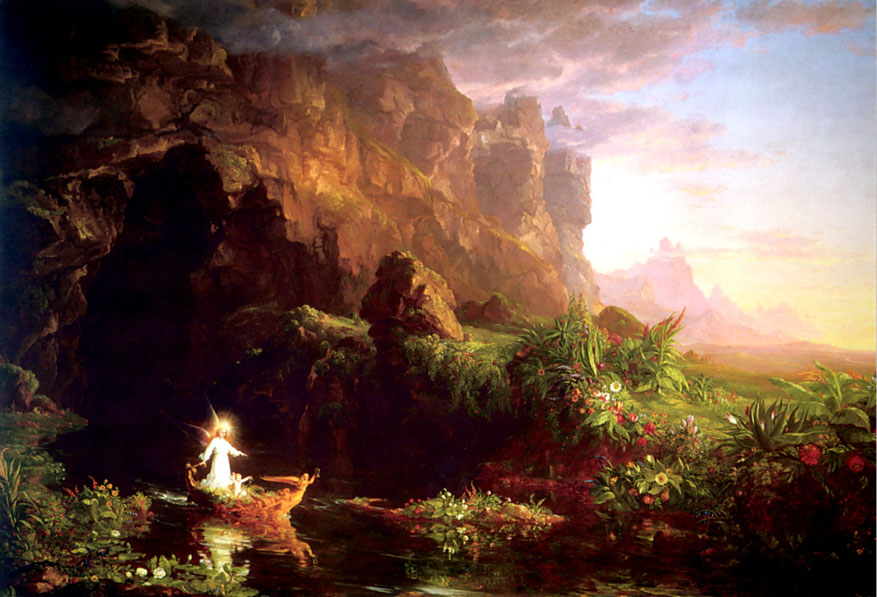 The Voyage of Life Childhood painting - Thomas Cole The Voyage of Life Childhood art painting