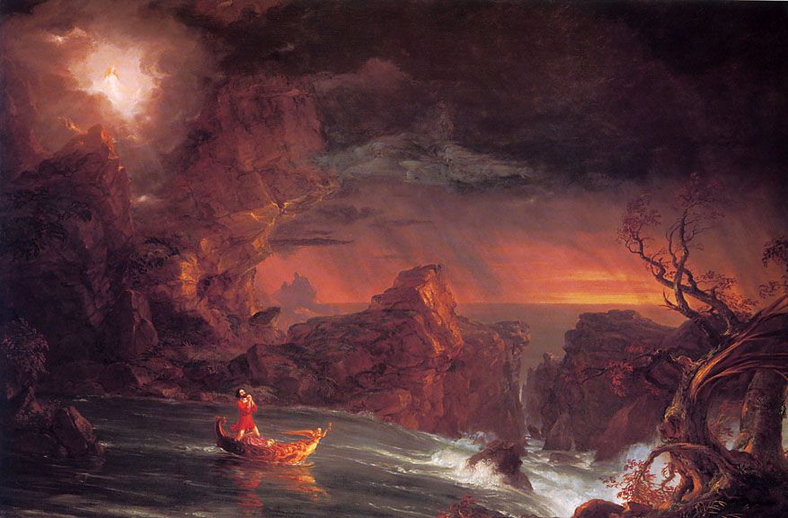 Thomas Cole The Voyage of Life Manhood Art Painting