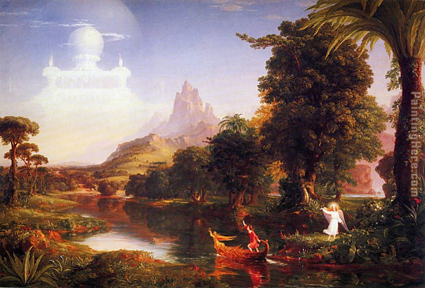 The Voyage of Life Youth painting - Thomas Cole The Voyage of Life Youth art painting