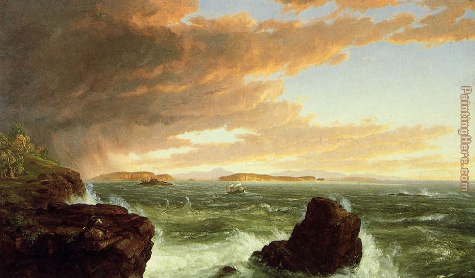 Thomas Cole View Across Frenchmans Bay from Mount Desert Island After a Squall Art Painting