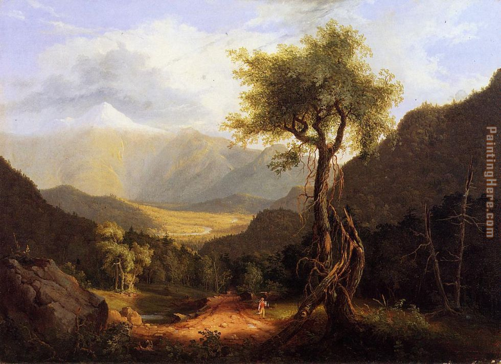 Thomas Cole View in the White Mountains Art Painting