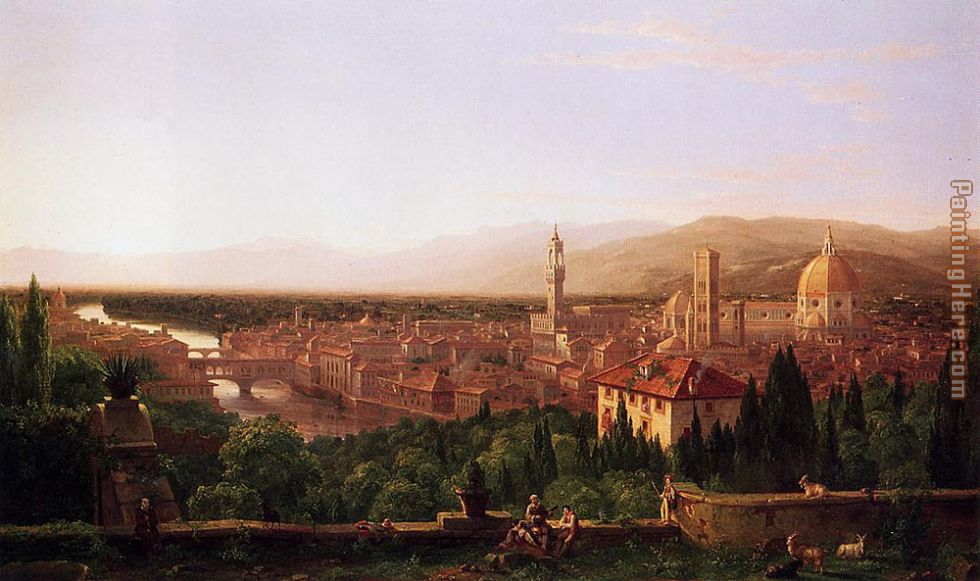 View of Florence from San Miniato painting - Thomas Cole View of Florence from San Miniato art painting