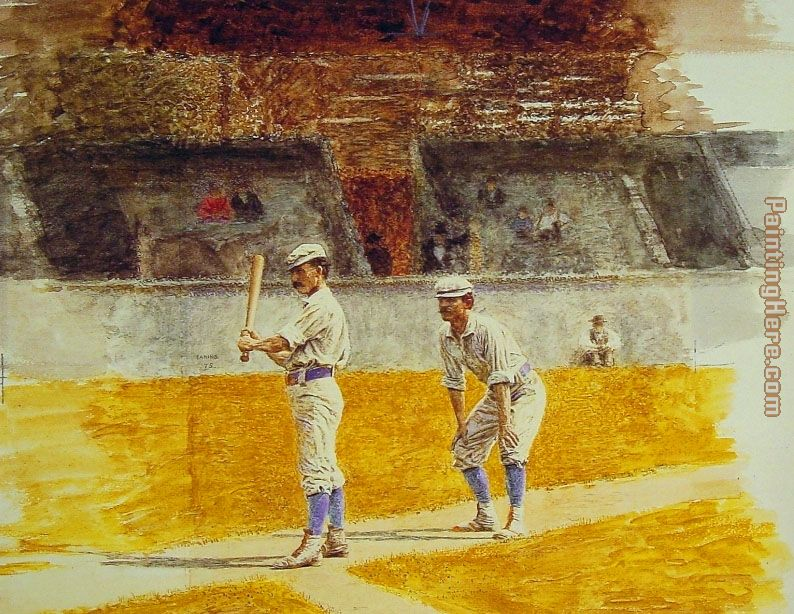Baseball Players Practicing painting - Thomas Eakins Baseball Players Practicing art painting