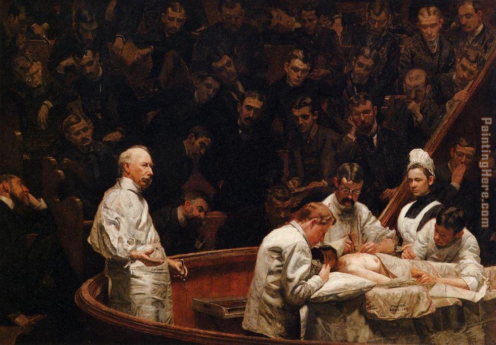 Thomas Eakins The Agne... Thomas Eakins Paintings