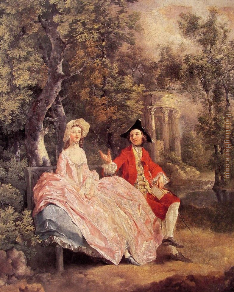 Conversation in a Park painting - Thomas Gainsborough Conversation in a Park art painting