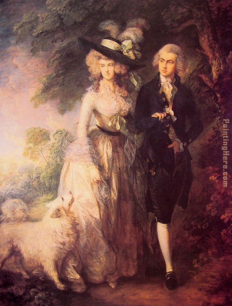 Thomas Gainsborough The Morning Walk Art Painting