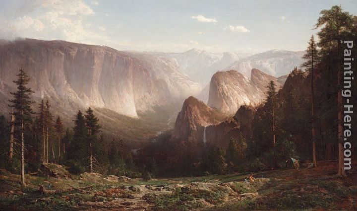 Great Canyon of the Sierra,Yosemite painting - Thomas Hill Great Canyon of the Sierra,Yosemite art painting