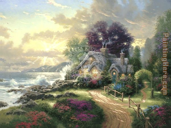 A New Day Dawning painting - Thomas Kinkade A New Day Dawning art painting