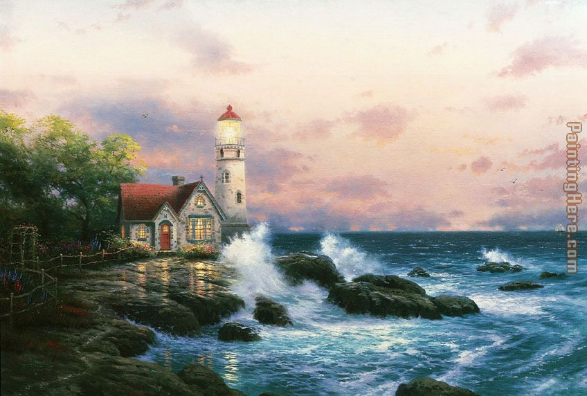 Thomas Kinkade Beacon of hope Art Painting