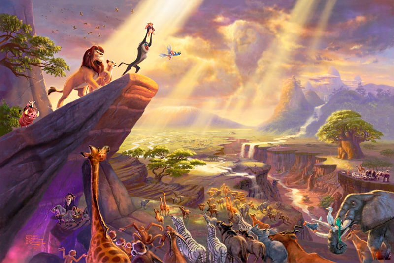 Disney Dreams Collection VII The Lion King painting - Thomas Kinkade Disney Dreams Collection VII The Lion King art painting