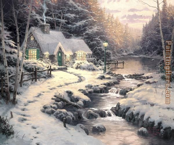 Evening Glow painting - Thomas Kinkade Evening Glow art painting