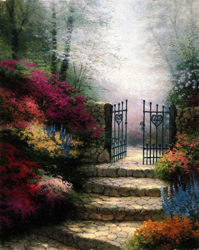 Garden Of Promise painting - Thomas Kinkade Garden Of Promise art painting