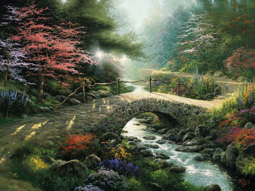 Thomas Kinkade Gone With The Wind Art Painting