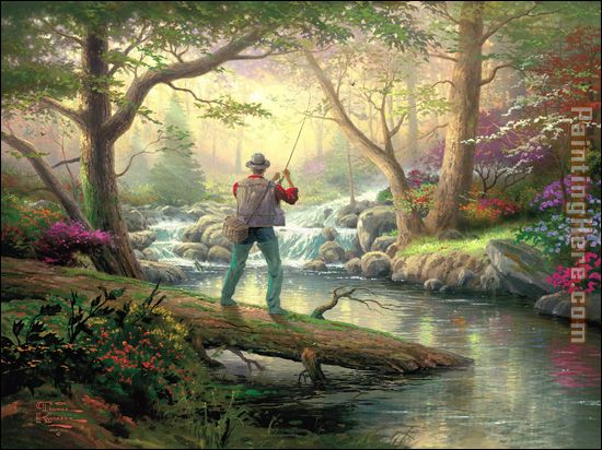 It doesn't get much better painting - Thomas Kinkade It doesn't get much better art painting