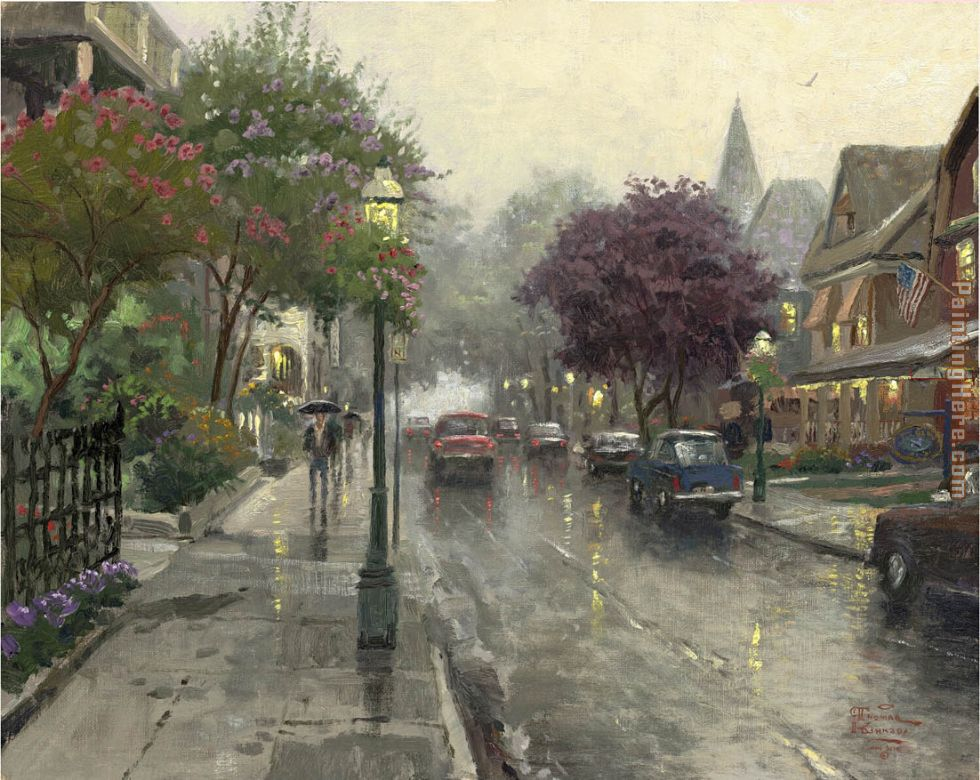 Thomas Kinkade Jackson Street, Cape May Art Painting