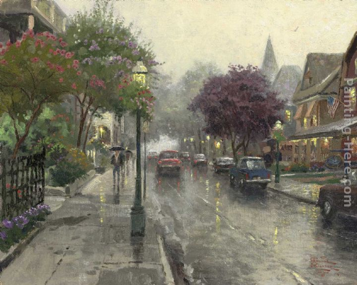 Thomas Kinkade Jackson Street,Cape May Art Painting