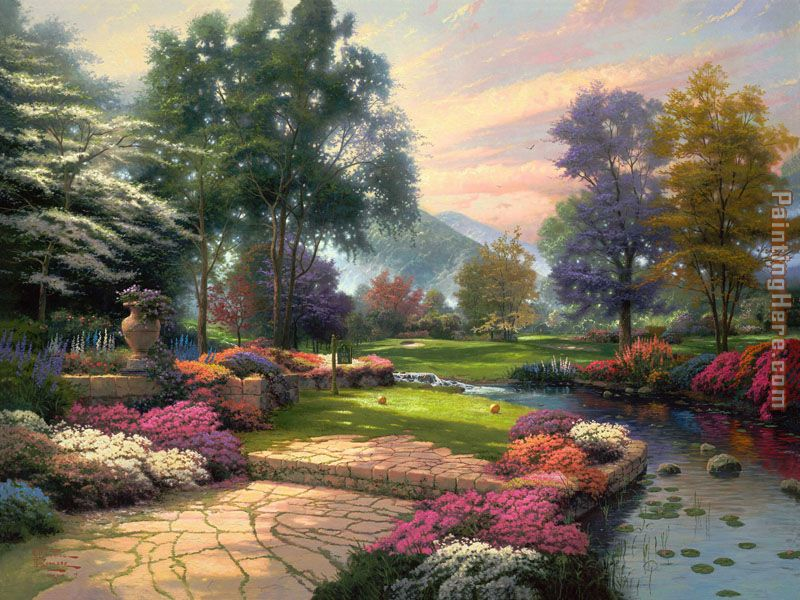 Living Waters painting - Thomas Kinkade Living Waters art painting